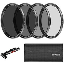 Neewer 52MM Neutral Density ND2 ND4 ND8 ND16 Filter and Acce