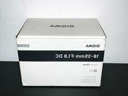NEW Sigma 18-35mm f/1.8 DC HSM Art Lens - Sony