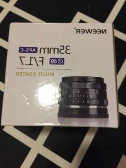 NEW! Neewer NW-E-35-1.7 35mm f/1.7 Manual Focus Prime Fixed
