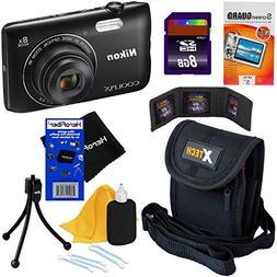 HeroFiber Nikon COOLPIX A300 20.1 MP Digital Camera with 8X