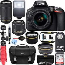 Nikon D5600 24.2 MP DSLR Camera + AF-P DX 18-55mm & 70-300mm