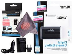 2 Pack Vivitar NP-FM500H Ultra High Capacity Rechargeable 18