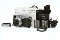 Fuji X100 Digital Camera w/ B+W Filter,  Batteries & Case