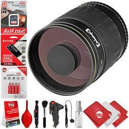 Opteka 500mm f/8 Manual Focus High Definition Telephoto Mirr