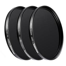 Neewer 3 Pieces 77MM Optical Glass Infrared IR Filter Kit fo