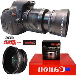 OPTURA PHOTO® FISHEYE WIDE ANGLE LENS FOR CANON EOS REBEL D