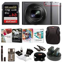 Panasonic Lumix DMC-ZS100 Digital Camera w/Case & 64GB SD Ca