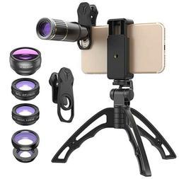 Apexel Phone Camera Lens Kit - Metal 16X Telephoto Zoom Lens
