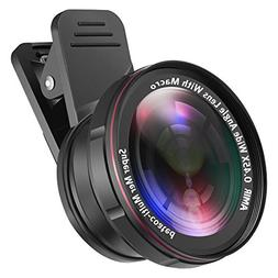 AMIR For iPhone Lens Kit, 0.45X Wide Angle Lens + 15X Macro