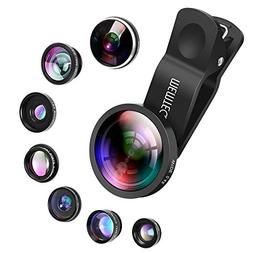 Phone Lens - Cell Phone Camera Lens Kit Universal 8 in 1 Cli