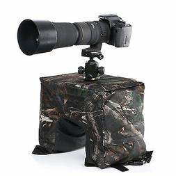Movo Photo THB02 Camouflage Camera Lens Bean Bag with Head M