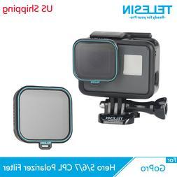 TELESIN Polarizing CPL Filter Camera Lens Protect Cap for Go