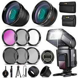 Professional 58mm Photography Accessory Kit for DSLR/SLR Cam