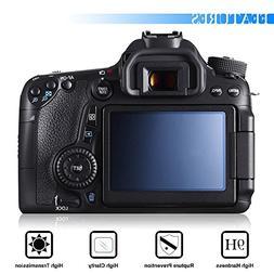AFUNTA Camera Screen Protector Compatible Canon 70D 80D, 2 P
