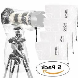 Movo  RC1 Clear Rain Cover for DSLR Camera and Lens up to 18