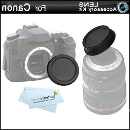 Rear Lens Cap and Camera Body Cover Cap for CANON Rebel Cano