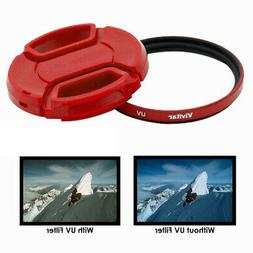 Vivitar 55mm UV Filter and Snap On Cap