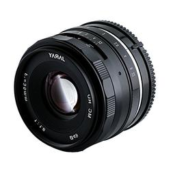 JARAY Sharp 35mm f/1.6 Standard Manual Focus Prime Lens for