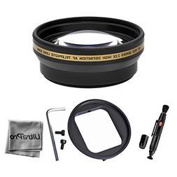 UltraPro High Resolution 52mm Telephoto Lens Bundle for GoPr