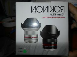 Rokinon RK12M-MFT 12mm F2.0 Ultra Wide Angle Lens for Micro