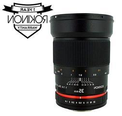 Rokinon RK35M-C 35mm f/1.4 Lens for Canon Cameras