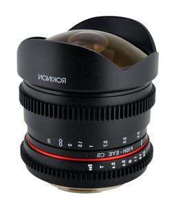 Rokinon RK8MV-C 8mm T3.8 Cine Fisheye Lens for Canon Video D