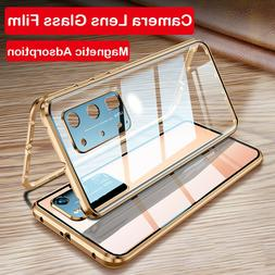 For Samsung Galaxy Note 20 Ultra S20 + Magnetic Glass Case C