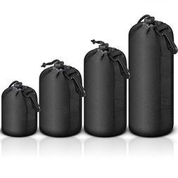 Selens 4 pcs Black Protective DSLR camera Drawstring Soft Ne