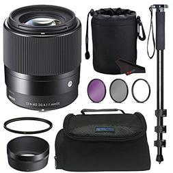 Sigma 30mm F1.4 Contemporary DC DN Lens for Sony E + Pixi-Ba