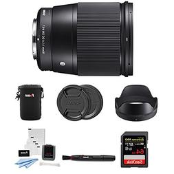 Sigma 16mm f/1.4 DC DN Contemporary Lens for Sony E-Mount wi