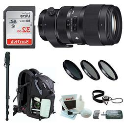 Sigma 50-100mm f/1.8 DC HSM Art Lens for Canon Mounts + Sony
