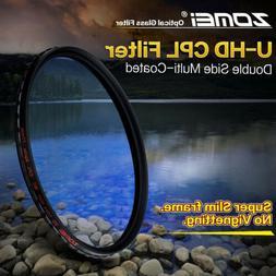Zomei Slim HD CPL Circular Polarizing Camera Lens Filter 52/
