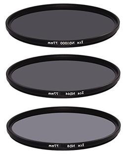 ICE 77mm Slim ND Filter Set ND1000 ND64 ND8 Neutral Density
