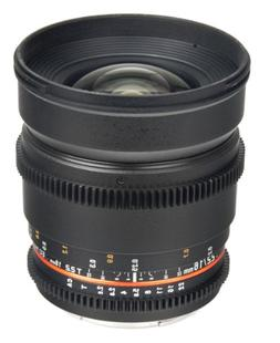Bower SLY16VDN Wide Angle High-Speed 16mm T/2.2 Cine Lens fo