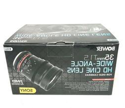 Bower SLY35VDS Wide-Angle 35mm T/1.5 Digital Cine Lens for S