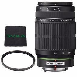 Pentax SMCP-DA 55-300mm f/4-5.8 ED Autofocus Lens + UV Filte