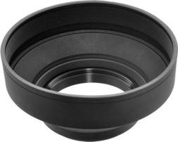 77mm Soft Rubber Lens Hood for DSLR Cameras Camcorder Lens
