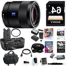 Sony 55mm F1.8 Sonnar T FE ZA Lens w/ VGC77AM Vertical Grip
