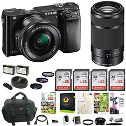 Sony Alpha a6000 24 MP Mirrorless Camera with 16-50mm and 55