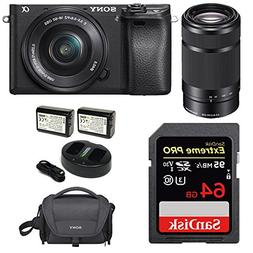 Sony Alpha a6300 Mirrorless Digital Camera w/ 16-50mm f/3.5-