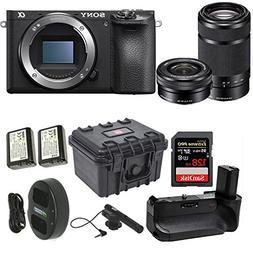 Sony Alpha a6500 24.2MP Wi-Fi Mirrorless Camera 16-50mm & 55