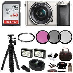 Sony Alpha a6000 Mirrorless Camera w/ 16-50mm Lens & 64GB Ca