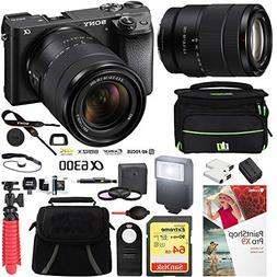 Sony ILCE-6300M/B a6300 4K Mirrorless Camera  with 18-135mm