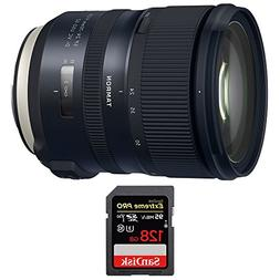 Tamron SP 24-70mm f/2.8 Di VC USD G2 Lens with Sandisk Extre
