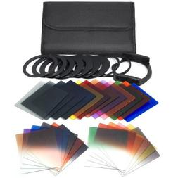 XCSOURCE 24pcs Square Full Colors ND2/ND4/ND8 Filters + Grad