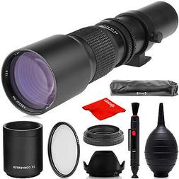 Super 500mm1000mm f8 Manual Telephoto Lens for Nikon D4S, DF