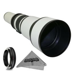 Super 650-1300mm f/8-16 HD Telephoto Zoom Lens for Sony Alph