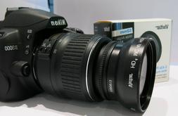 VIVITAR WIDE ANGLE LENS + MACRO LENS FOR NIKON D3500 HD OPTI