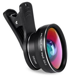 Super Wide Angle 0.45X and 15X Macro Lens Clip-on iphone Cam