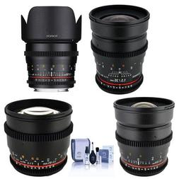 Rokinon T1.5 Cine 4 Lens Kit for Canon EF Mount - Consists o